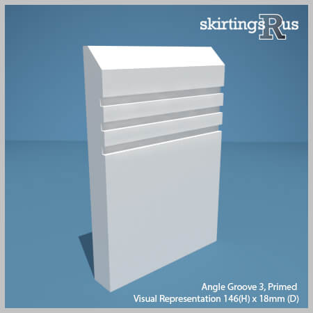 Angle Groove 3 MDF Skirting Board