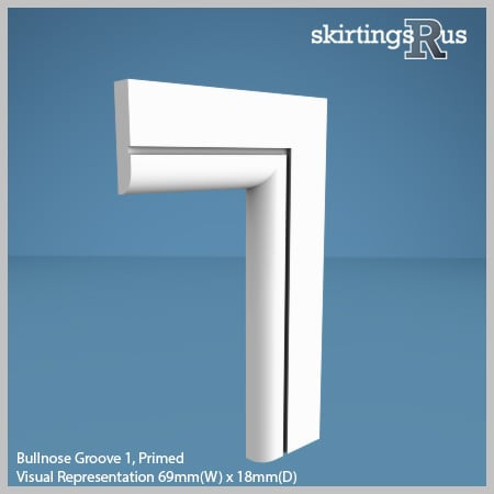 Bullnose Groove 1 MDF Architrave