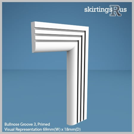 Bullnose Groove 3 MDF Architrave