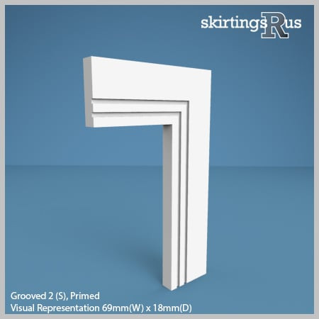 Grooved 2 (S) MDF Architrave