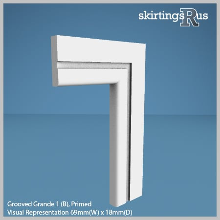 Grooved Grande 1 (B) MDF Architrave