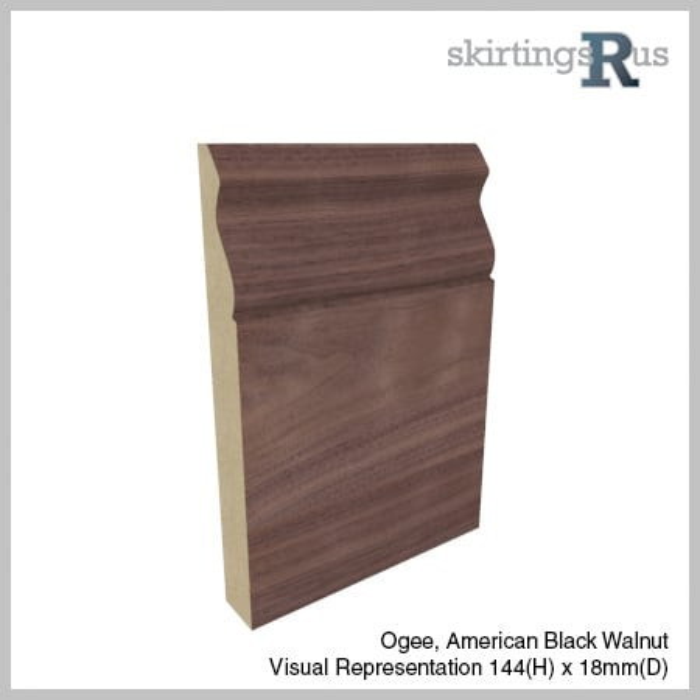 Veneered Ogee Skirting Board