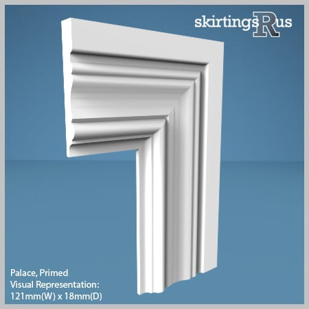 Visual Representation of Palace MDF Architrave with a primed finish (69mm W x 18mm D)
