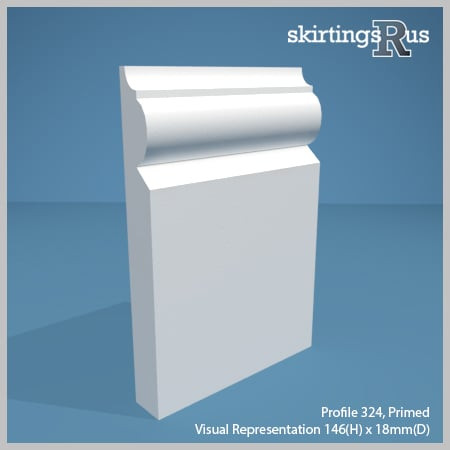 Profile 324 MDF Skirting Board