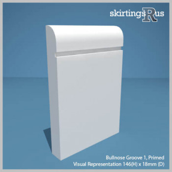Bullnose Groove 1 MDF Skirting Board