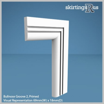 Bullnose Groove 2 MDF Architrave