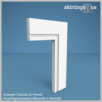 Grooved Grande 1 (S) MDF Architrave