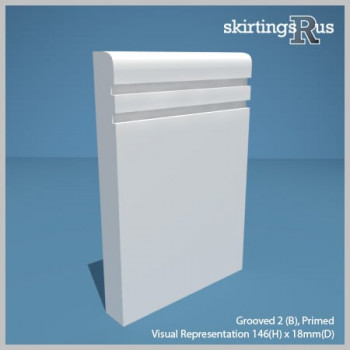 Grooved 2 (B) MDF Skirting Board