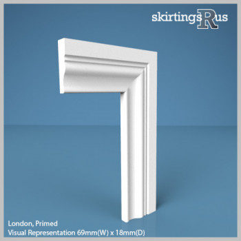 Visual representation of London MDF Architrave - 69mm(W) x 18mm(D)
