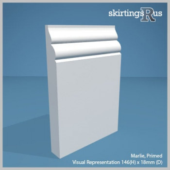 Visual Representation of Marlie MDF Skirting Board with a primed finish (146mmH x 18mmD)