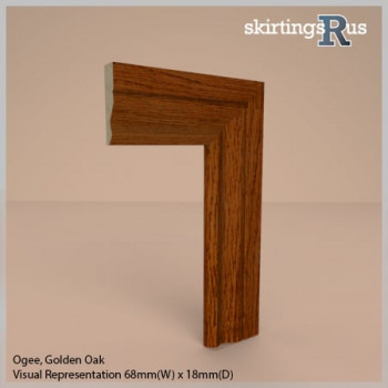 Ogee Foil Wrapped MDF Architrave