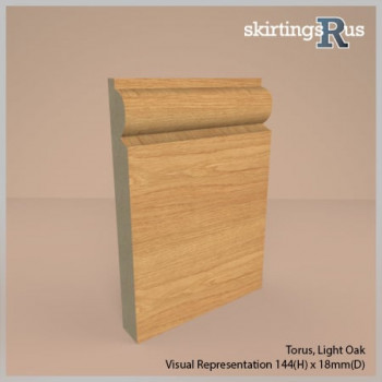 Torus Foil Wrapped MDF Skirting Board