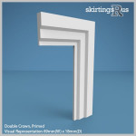 Double Crown MDF Architrave
