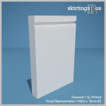 Grooved 1 (S) MDF Skirting Board