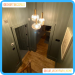 Victorian MDF Architrave used in hallway with dramatic lighting and painted the same colour as the walls - courtesy of @our_vickypark_home
