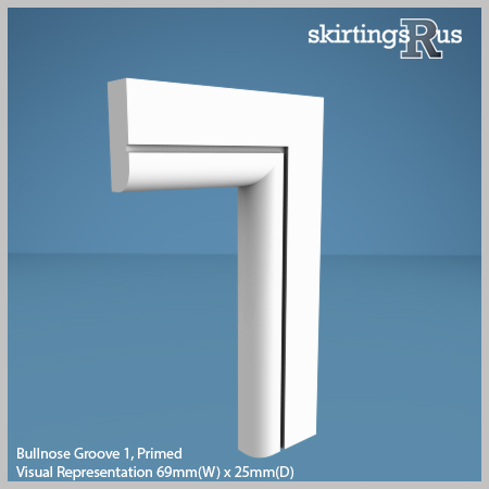 Bullnose Groove 1 Architrave from Skirtings R Us