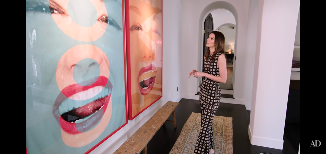 Kendall Jenner home - square skirting in hallway