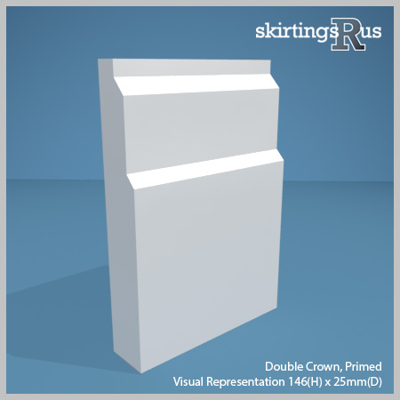Double Crown Skirting Board from Skirtings R Us