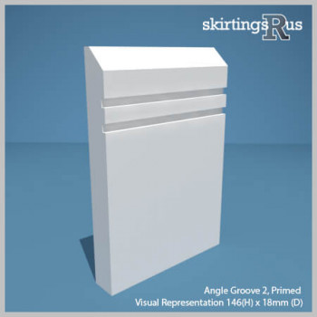 Visualisation of Angle Groove 2 MDF Skirting Board