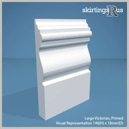 Large Victorian Skirting Board from Skirtings R Us
