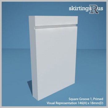 Visualisation of Square Groove 1 Skirting Board